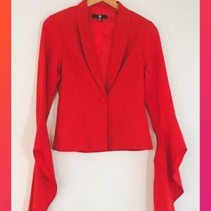 Missguided ♥️ Red Blazer with Amazing Sleeves